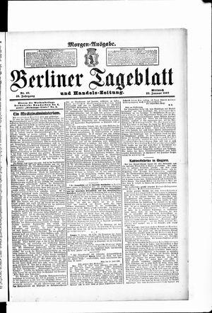Berliner Tageblatt und Handels-Zeitung vom 23.01.1907