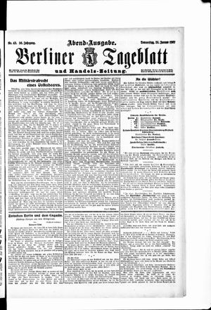 Berliner Tageblatt und Handels-Zeitung on Jan 24, 1907