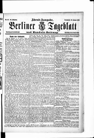 Berliner Tageblatt und Handels-Zeitung vom 26.01.1907