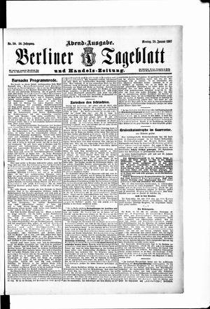 Berliner Tageblatt und Handels-Zeitung vom 28.01.1907