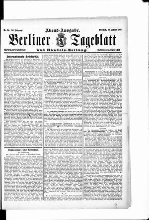 Berliner Tageblatt und Handels-Zeitung vom 30.01.1907