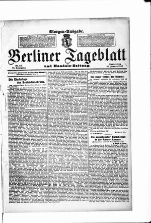 Berliner Tageblatt und Handels-Zeitung vom 31.01.1907