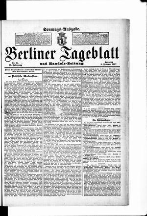 Berliner Tageblatt und Handels-Zeitung vom 03.02.1907