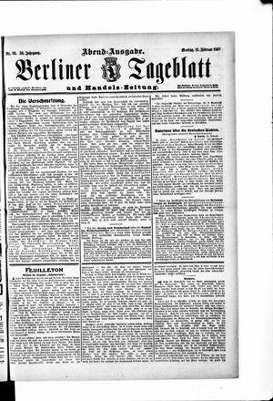 Berliner Tageblatt und Handels-Zeitung vom 11.02.1907