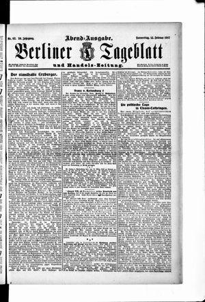 Berliner Tageblatt und Handels-Zeitung vom 14.02.1907