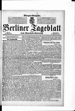 Berliner Tageblatt und Handels-Zeitung vom 16.02.1907