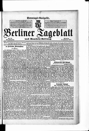Berliner Tageblatt und Handels-Zeitung vom 17.02.1907