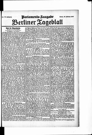 Berliner Tageblatt und Handels-Zeitung vom 22.02.1907