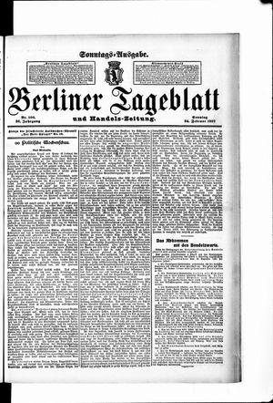 Berliner Tageblatt und Handels-Zeitung vom 24.02.1907