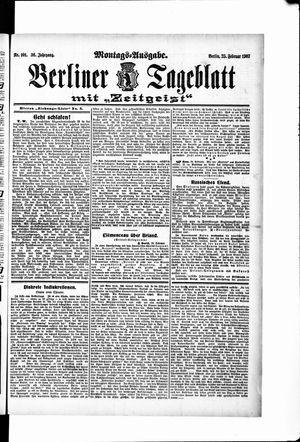 Berliner Tageblatt und Handels-Zeitung vom 25.02.1907