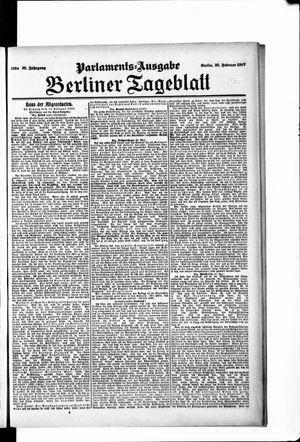 Berliner Tageblatt und Handels-Zeitung vom 26.02.1907