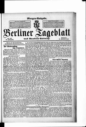 Berliner Tageblatt und Handels-Zeitung vom 27.02.1907