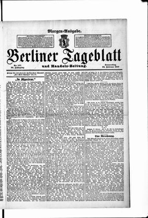 Berliner Tageblatt und Handels-Zeitung vom 28.02.1907