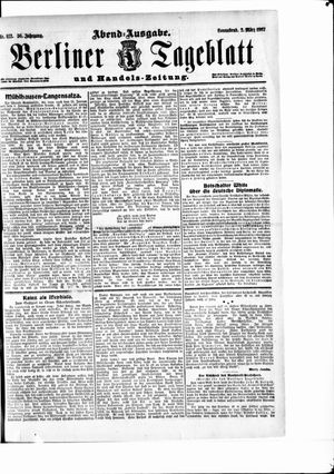 Berliner Tageblatt und Handels-Zeitung vom 02.03.1907