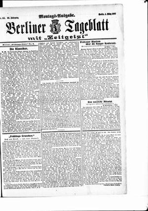 Berliner Tageblatt und Handels-Zeitung vom 04.03.1907