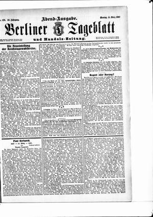 Berliner Tageblatt und Handels-Zeitung vom 11.03.1907