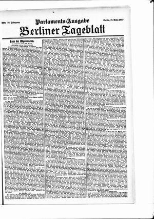 Berliner Tageblatt und Handels-Zeitung vom 17.03.1907