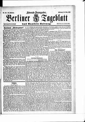 Berliner Tageblatt und Handels-Zeitung vom 20.03.1907