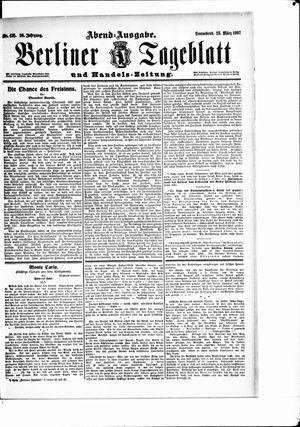 Berliner Tageblatt und Handels-Zeitung vom 23.03.1907