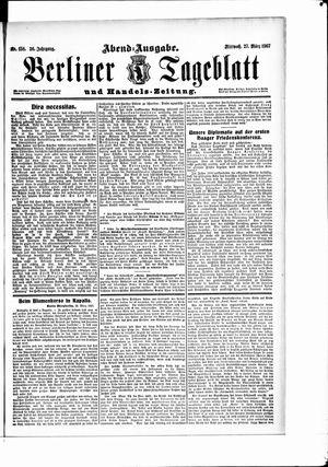 Berliner Tageblatt und Handels-Zeitung vom 27.03.1907