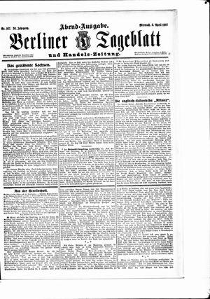 Berliner Tageblatt und Handels-Zeitung vom 03.04.1907
