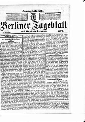 Berliner Tageblatt und Handels-Zeitung vom 07.04.1907