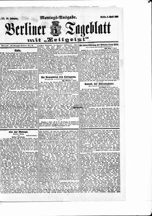 Berliner Tageblatt und Handels-Zeitung vom 08.04.1907