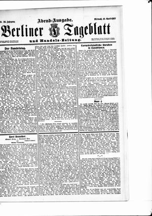 Berliner Tageblatt und Handels-Zeitung vom 10.04.1907