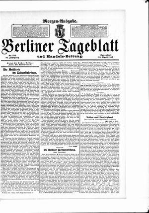Berliner Tageblatt und Handels-Zeitung vom 20.04.1907