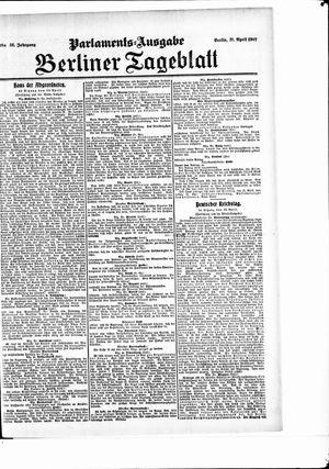 Berliner Tageblatt und Handels-Zeitung vom 21.04.1907