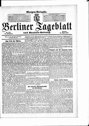 Berliner Tageblatt und Handels-Zeitung vom 26.04.1907
