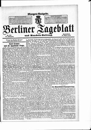 Berliner Tageblatt und Handels-Zeitung vom 27.04.1907