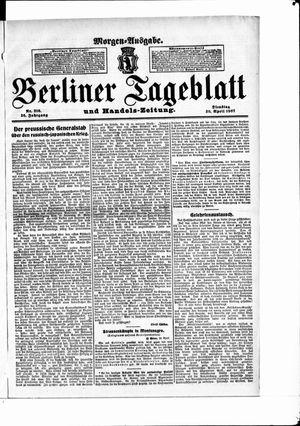 Berliner Tageblatt und Handels-Zeitung vom 30.04.1907
