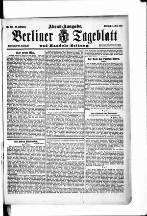 Berliner Tageblatt und Handels-Zeitung vom 01.05.1907