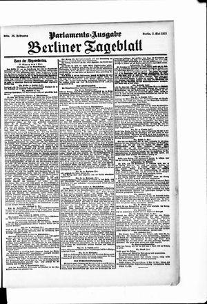 Berliner Tageblatt und Handels-Zeitung vom 02.05.1907
