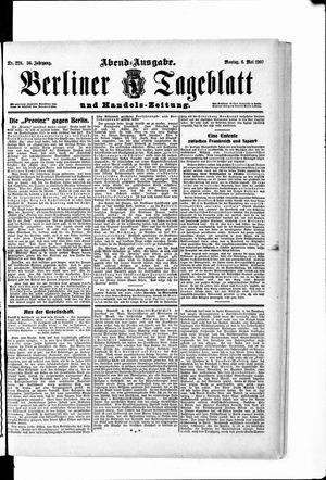 Berliner Tageblatt und Handels-Zeitung vom 06.05.1907