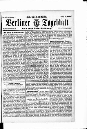 Berliner Tageblatt und Handels-Zeitung vom 10.05.1907