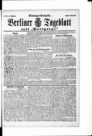 Berliner Tageblatt und Handels-Zeitung on May 13, 1907