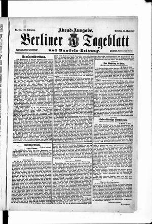 Berliner Tageblatt und Handels-Zeitung vom 14.05.1907