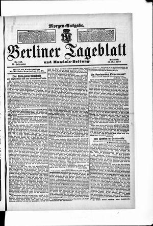 Berliner Tageblatt und Handels-Zeitung vom 15.05.1907
