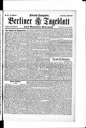 Berliner Tageblatt und Handels-Zeitung vom 16.05.1907