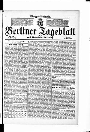 Berliner Tageblatt und Handels-Zeitung vom 17.05.1907