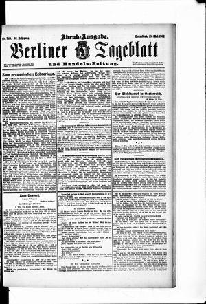 Berliner Tageblatt und Handels-Zeitung vom 18.05.1907