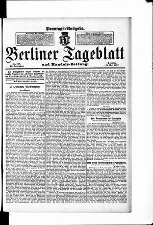 Berliner Tageblatt und Handels-Zeitung vom 19.05.1907