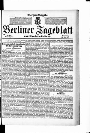 Berliner Tageblatt und Handels-Zeitung on May 23, 1907