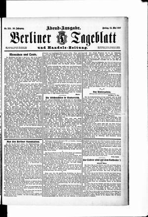 Berliner Tageblatt und Handels-Zeitung vom 24.05.1907