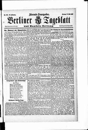 Berliner Tageblatt und Handels-Zeitung vom 27.05.1907