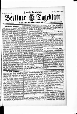 Berliner Tageblatt und Handels-Zeitung on May 28, 1907