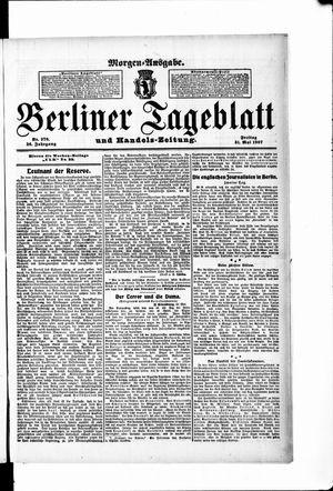 Berliner Tageblatt und Handels-Zeitung vom 31.05.1907