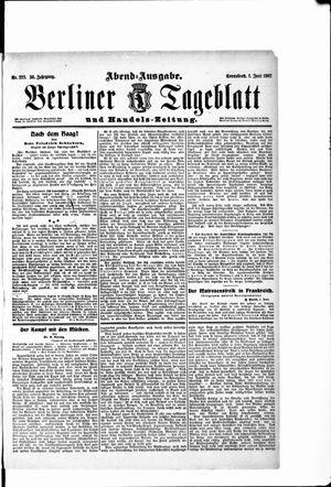 Berliner Tageblatt und Handels-Zeitung vom 01.06.1907